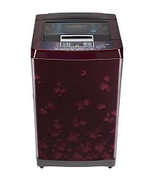 LG 6.5 T7567TEDLX Fully Automatic Fully Automatic Top Load Washing Machine New Red Florid and Wine Black