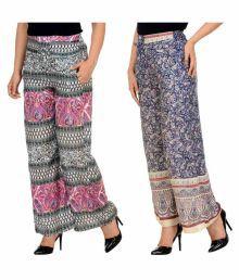 New Fashion Multi Color Rayon Palazzos - 670164111422