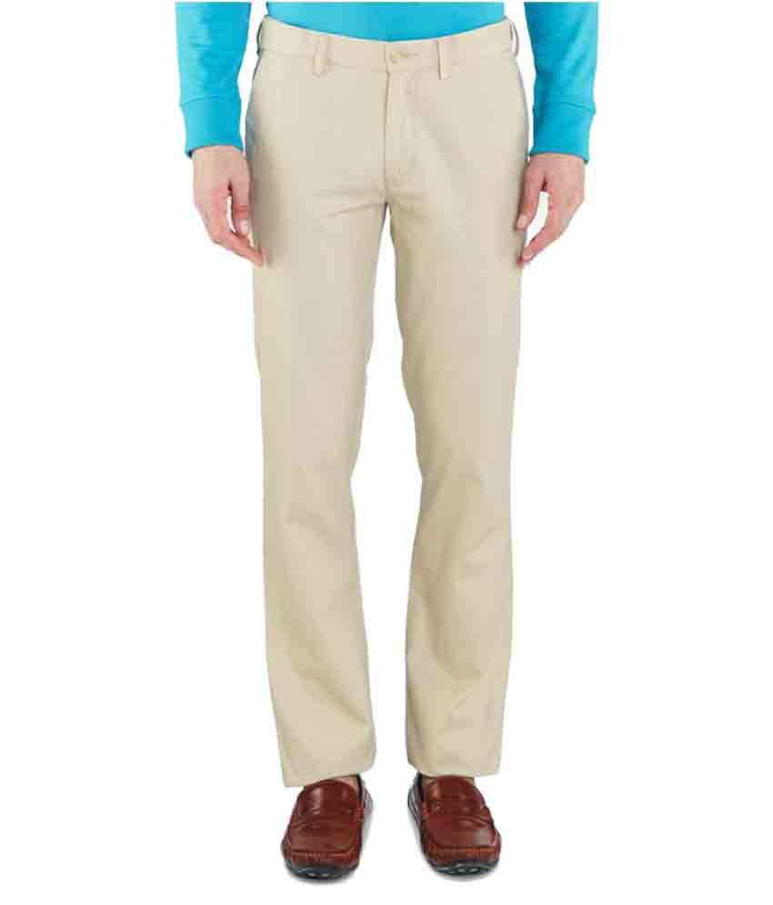 Colorplus Beige Slim Flat Trouser