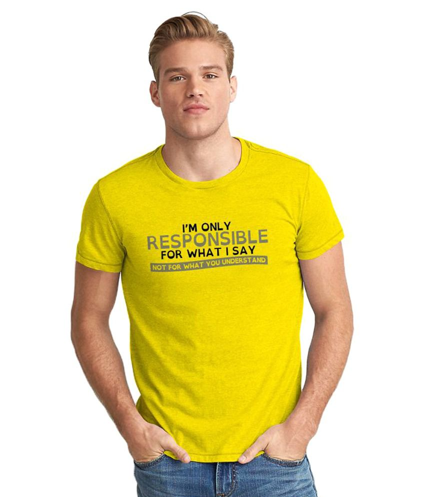 The Fappy Store Yellow Round T-Shirt