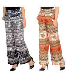 New Fashion Multi Color Rayon Palazzos - 651546318117