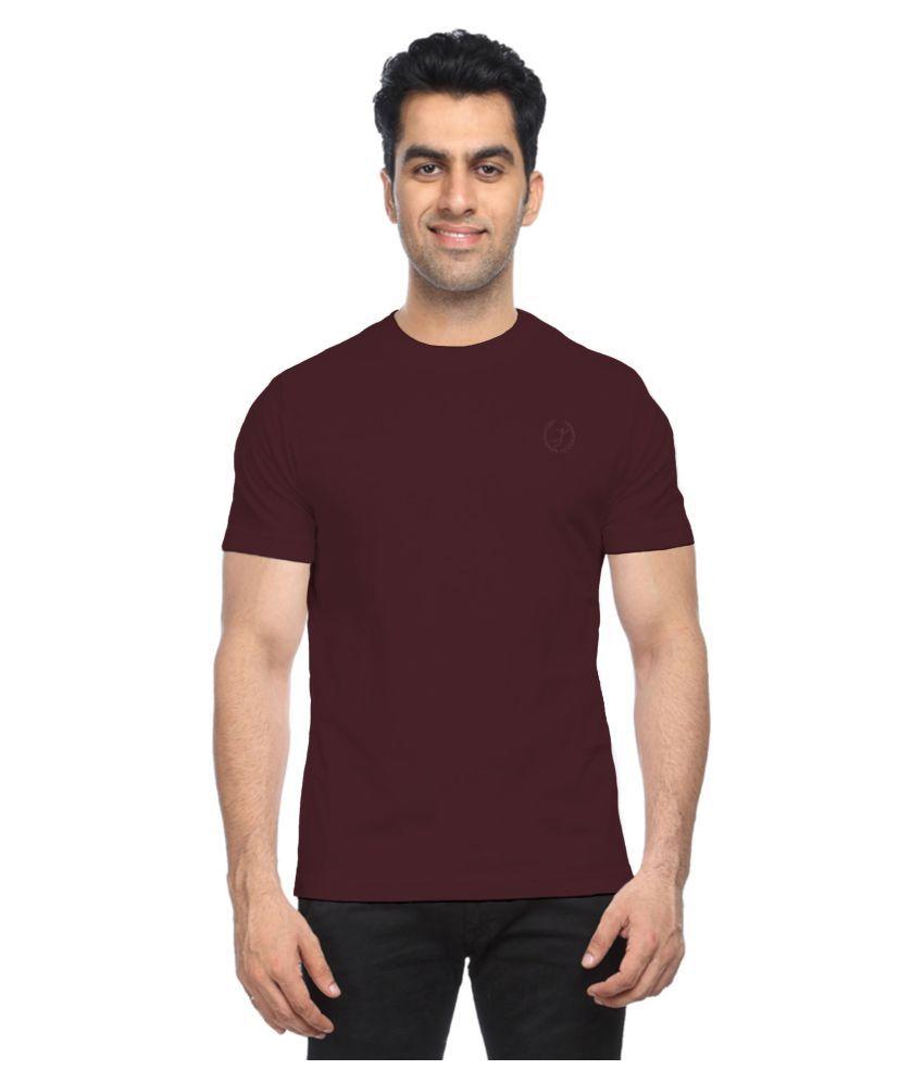Moonwalker Maroon Round T-Shirt