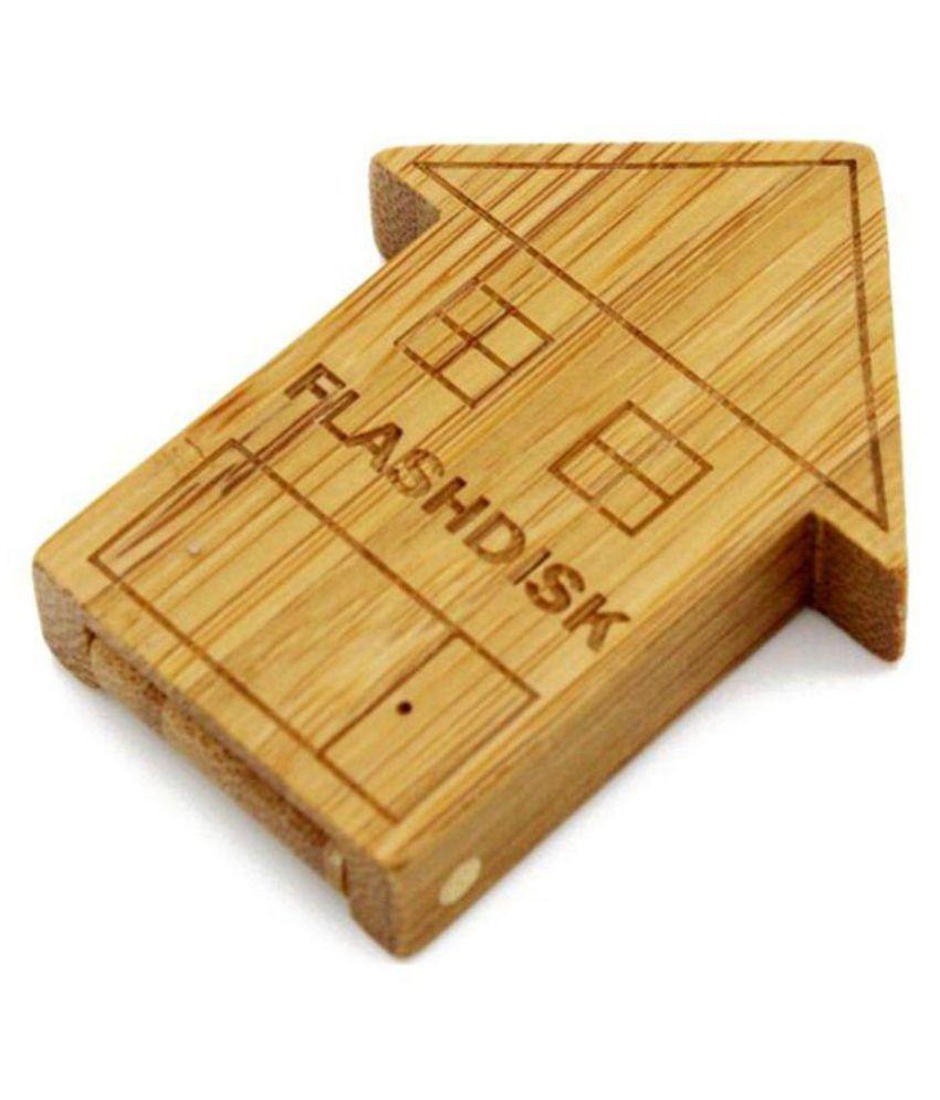 Quace Wood House 4GB USB 2.0 Fancy Pendrive