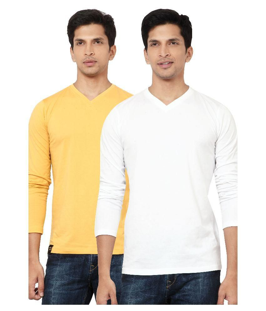 L.A. Seven Multi V-Neck T-Shirt Pack of 2