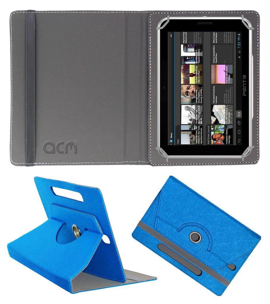 Bsnl Penta T-Pad Ws708c Designer Rotating Flip Case By ACM Dark Blue