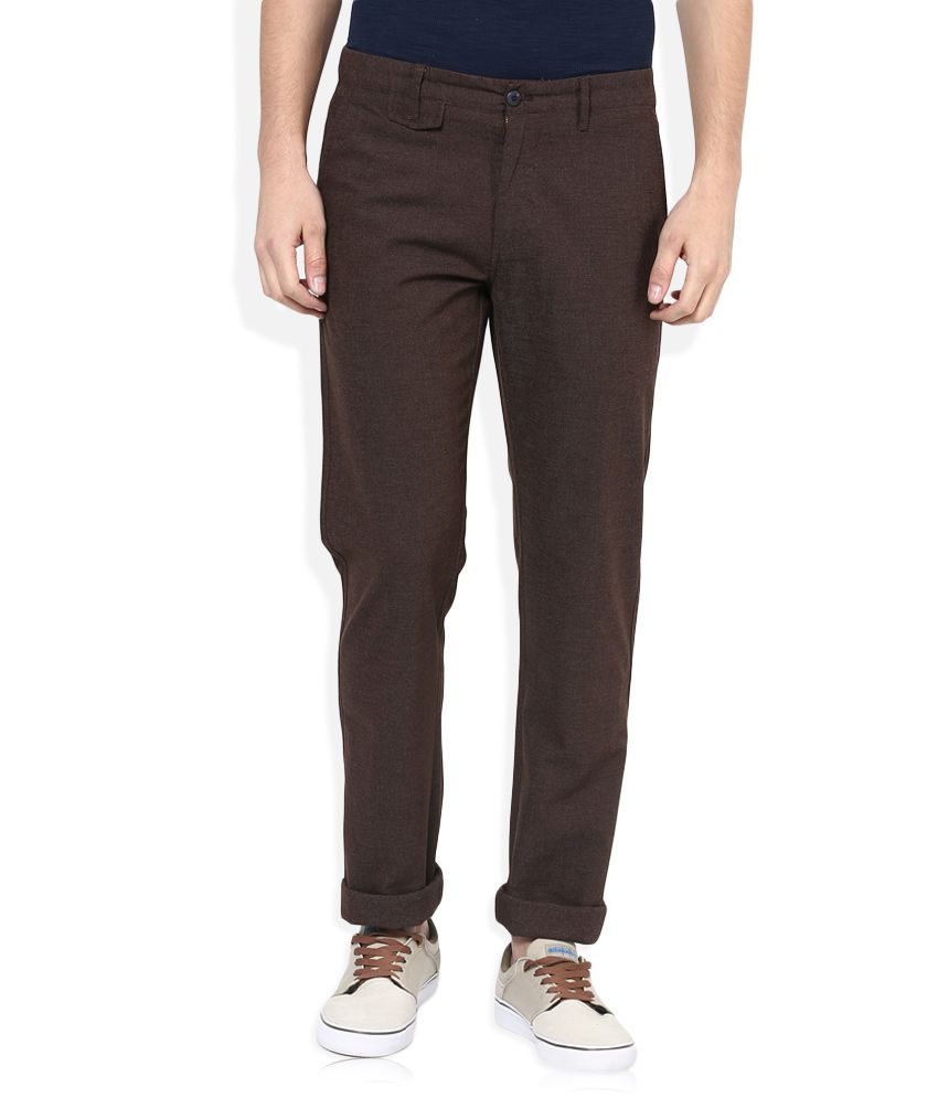 Monte Carlo Brown Regular Fit Chinos