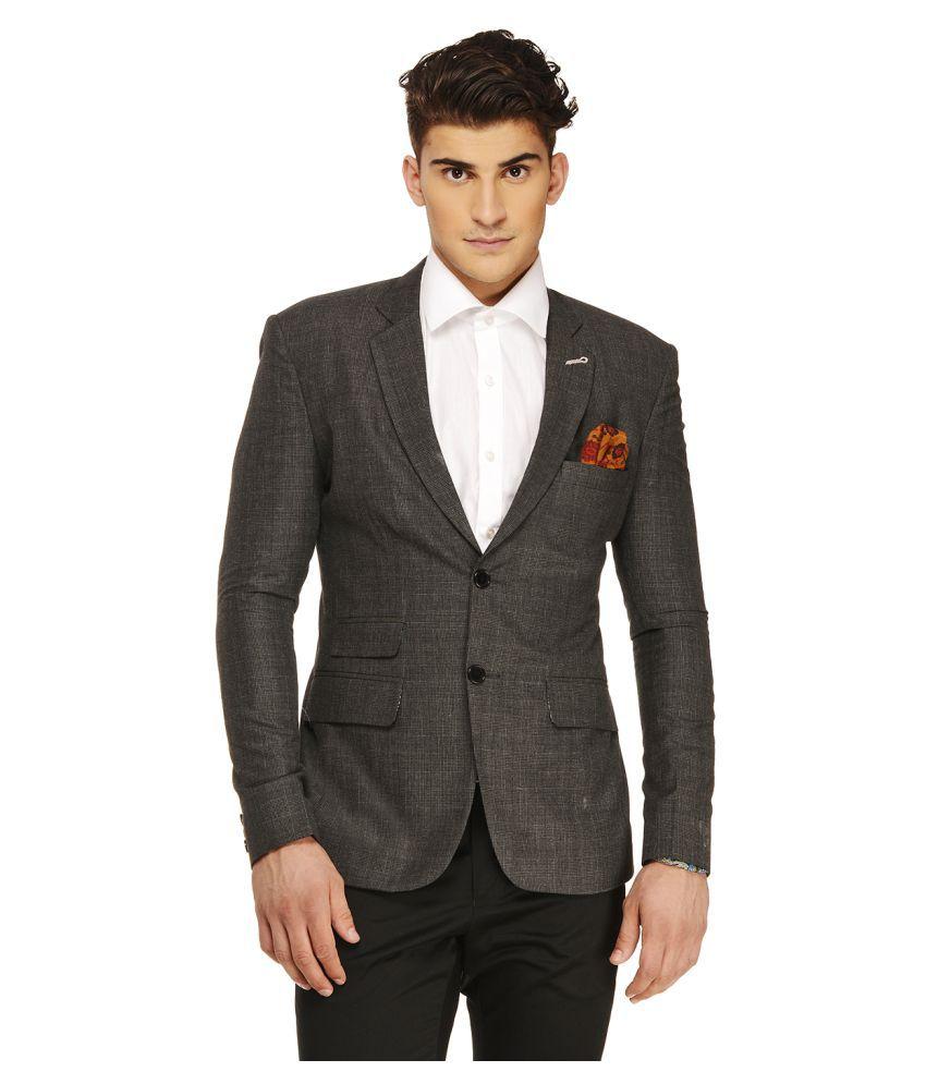 Ennoble Grey Checks Casual 2 Piece Suits
