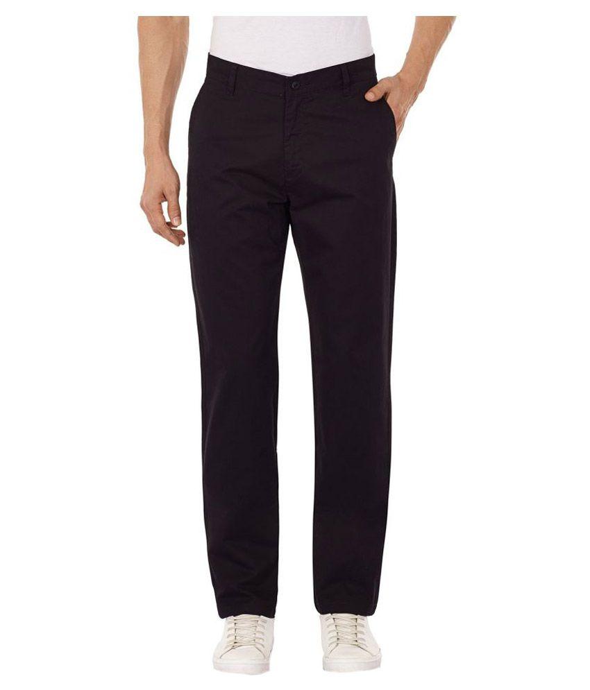 Krosswood Black Slim Flat Trouser