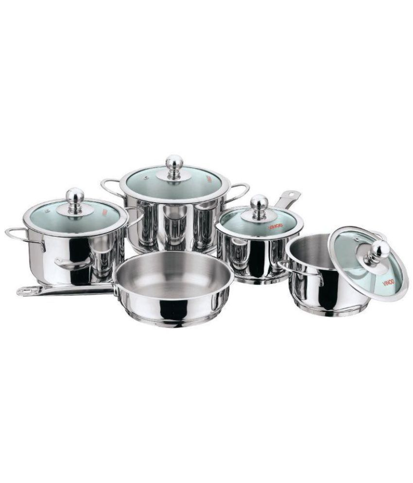 Non Stick Kitchen Set With Price: Vinod Non-Stick Cookware Set 5 Cookware Sets Snapdeal