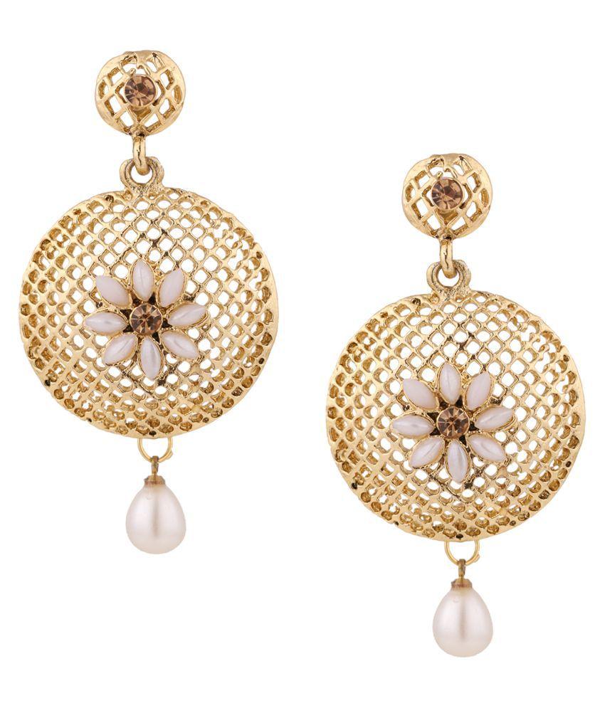 Dancing Girl Golden Drop Earrings