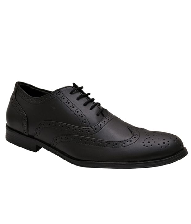 Upto 30-70% Off On Men's Formal Shoes By Snapdeal | Hirel's Black Brogue Formal Shoes @ Rs.899