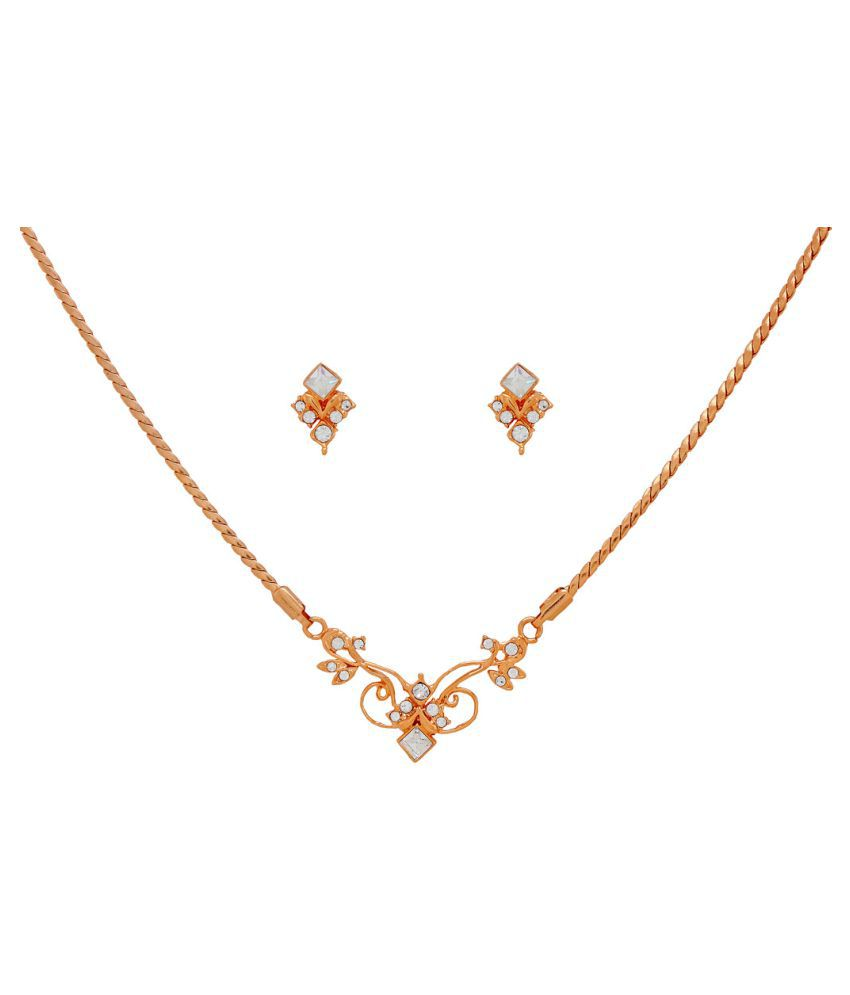 Iconic Collection 1GM  Gold Plated Necklace Set