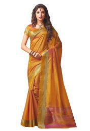 Ishin Yellow Silk Saree