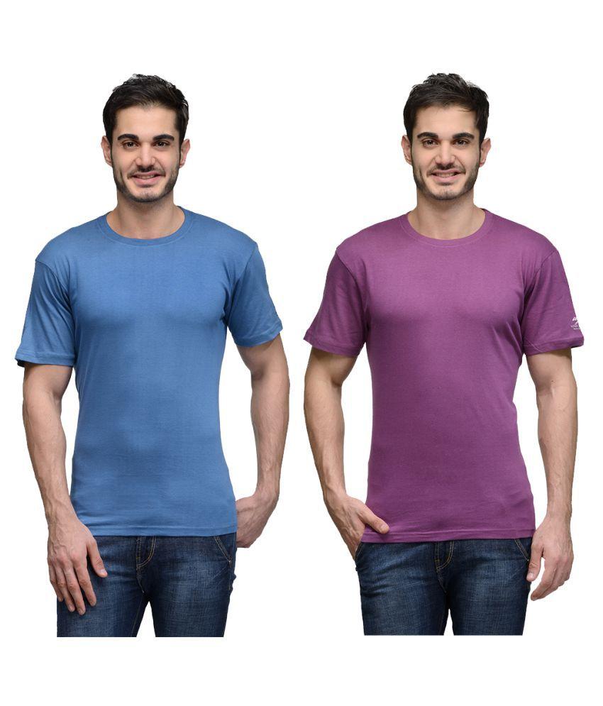 Urban Glory Multi Round T-Shirt Pack of 2