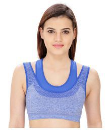 Bahucharaji Creation Blue Cotton Lycra Cami Bra