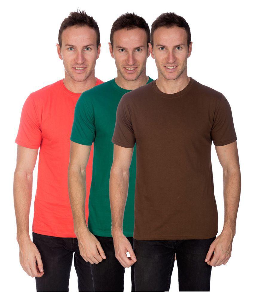 Artist Multi Round T-Shirt Pack of 3