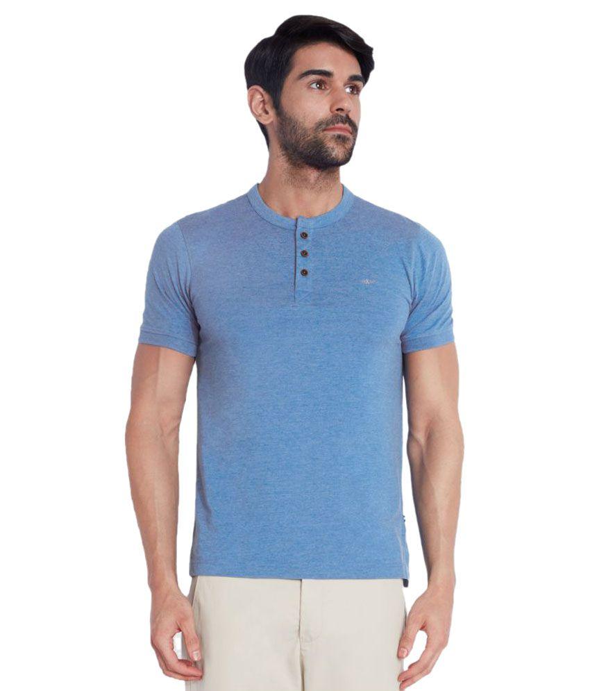 Park Avenue Blue Henley T-Shirt