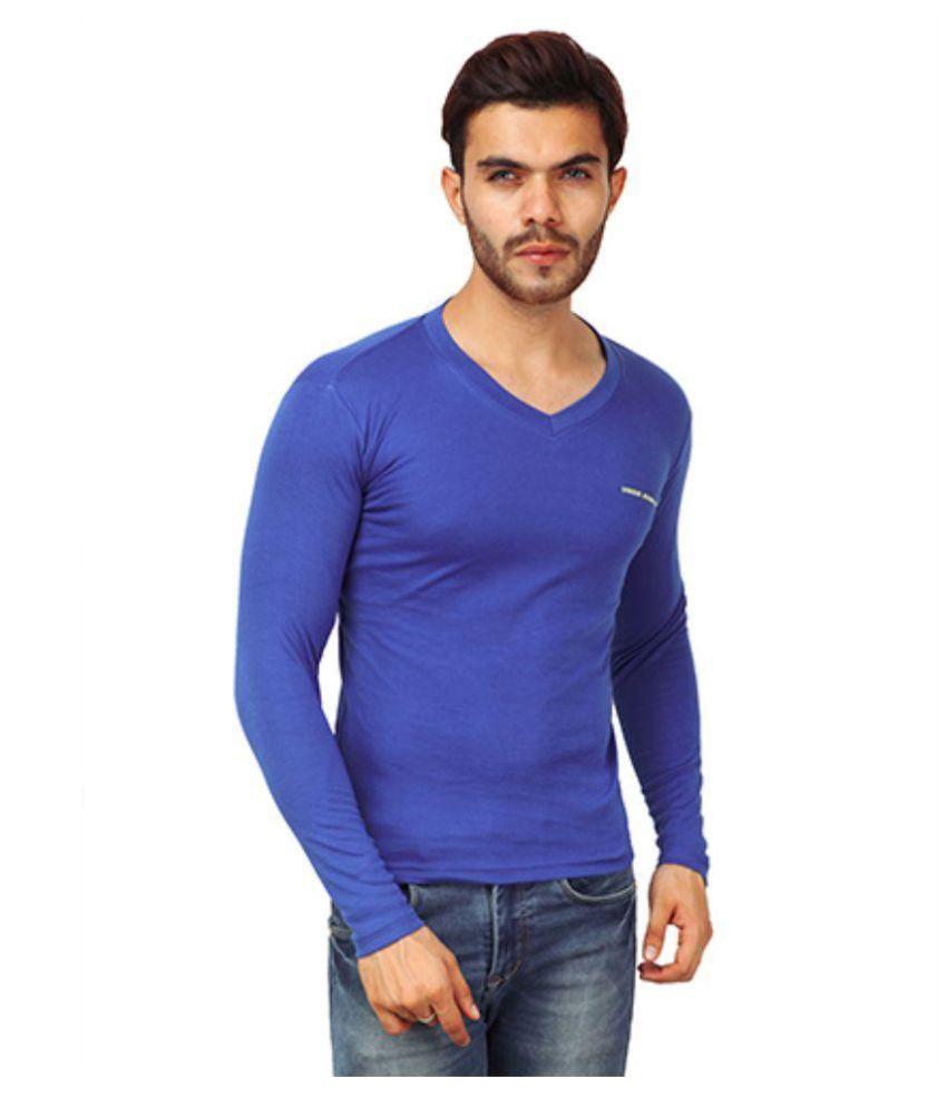 Unique Blue V-Neck T-Shirt