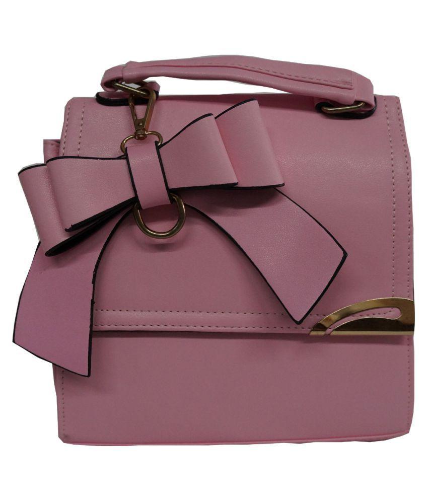 Bhavya Enterprise Pink Pure Leather Handheld