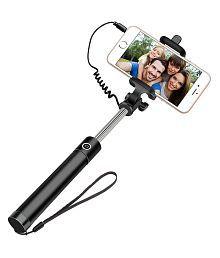 Galaxy Plus Aux Wire Selfie Stick - Black