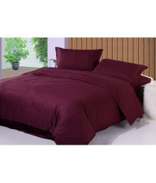 Fresh From Loom Single Satin Stripe Stripes Bed Sheet - 652967157790