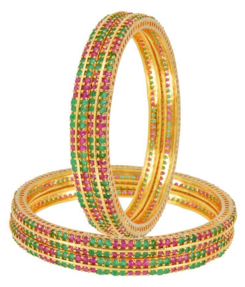 Shonajewels Multicolour Bangle set