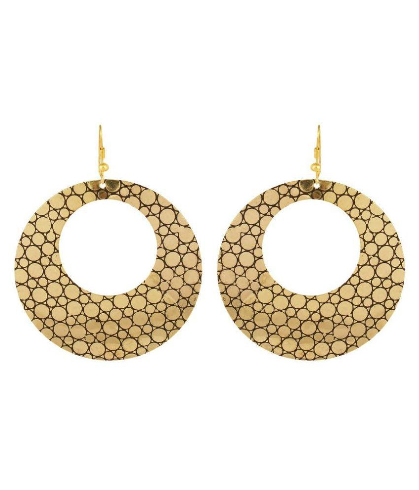 Arittra Golden Hanging Earrings
