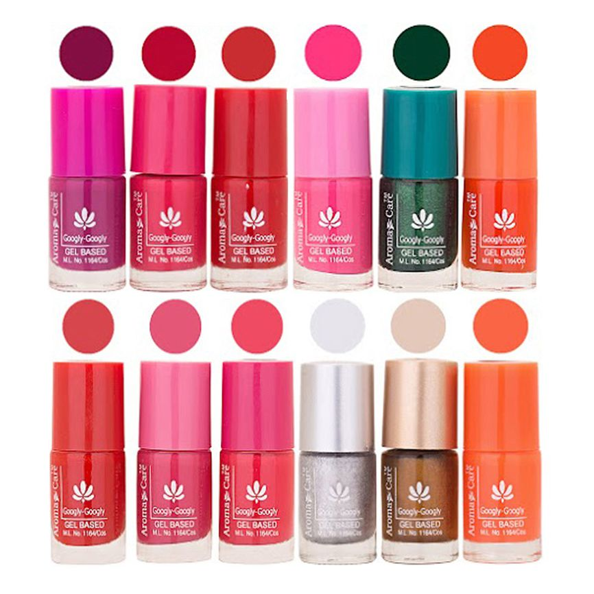 Aroma Care Dhamaka Offer - Gel Based Nail Polish Set of 12 Pcs at Wholesale Price ( 72 ml) 122