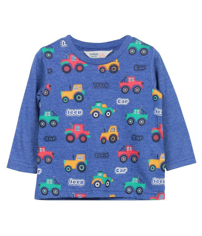 Beebay Blue Cotton T Shirt Buy Beebay Blue Cotton T