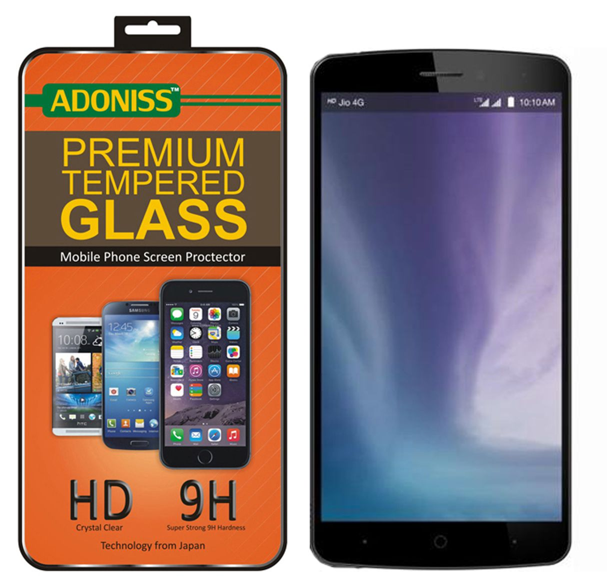 LYF wind 3 Tempered Glass Screen Guard By Adoniss