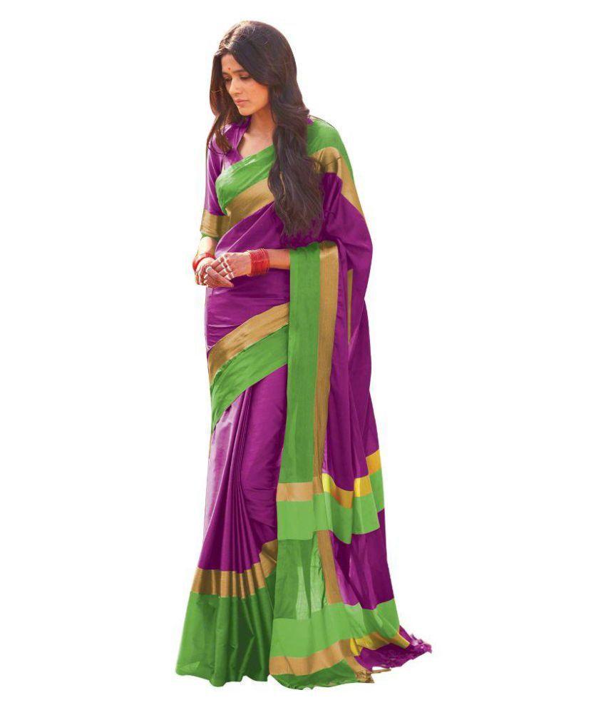 Edeal Online Purple Silk Saree