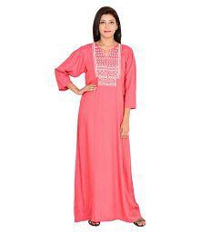 9teenAgain Pink Cotton Nighty & Night Gowns