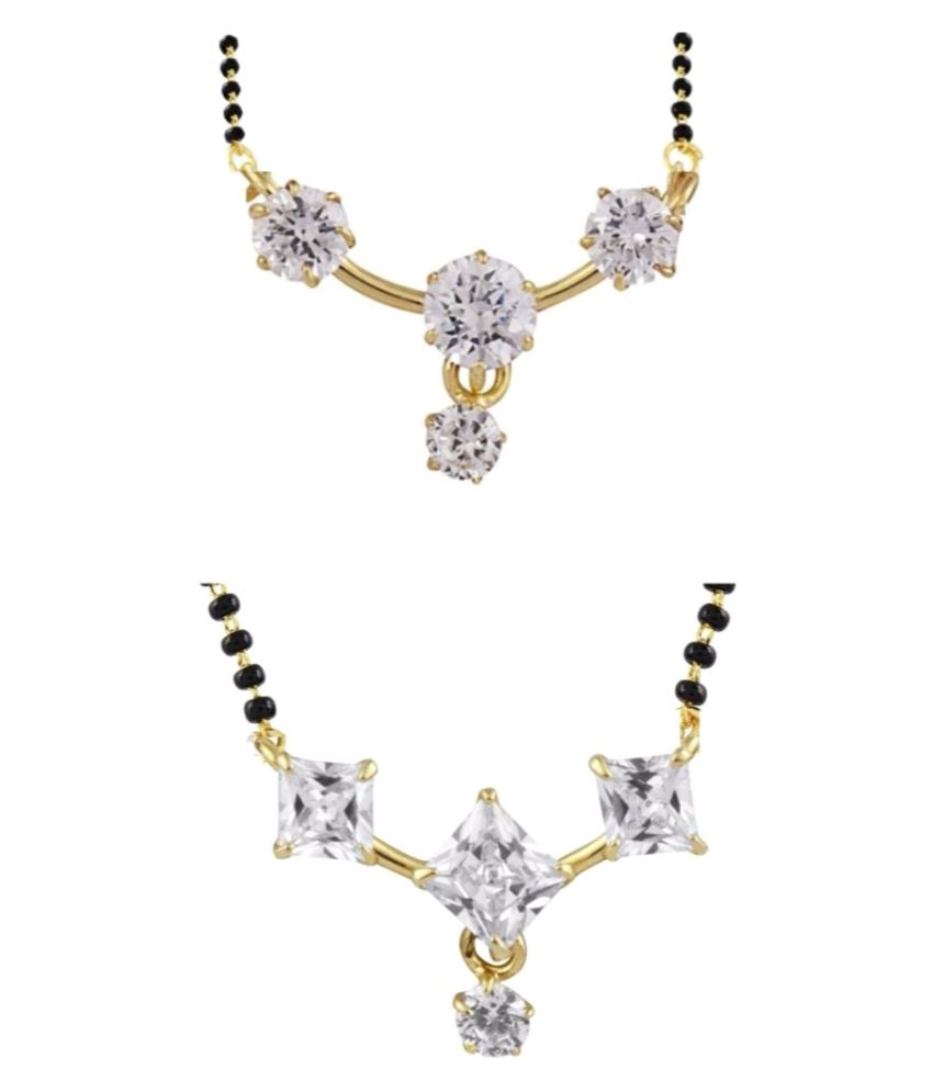 Archi Collection Multi Color Pack of CZ Mangalsutra for Women