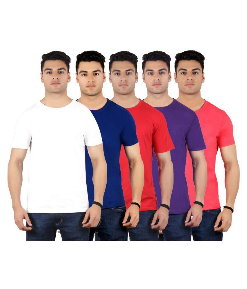 Diaz Multi V-Neck T-Shirt Pack of 5