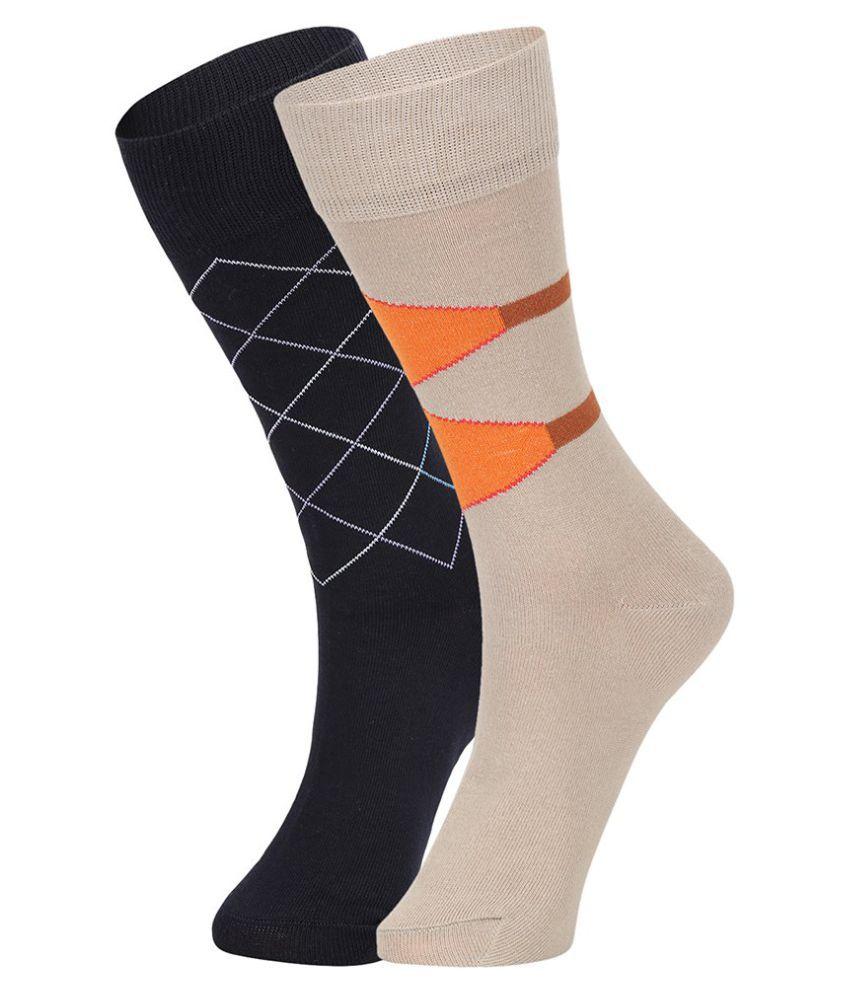 Dukk Multi Casual Full Length Socks - Pack of 2
