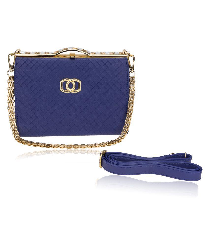 Genious Blue P.U. Sling Bag