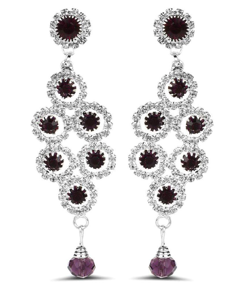 Johareez Purple Earrings