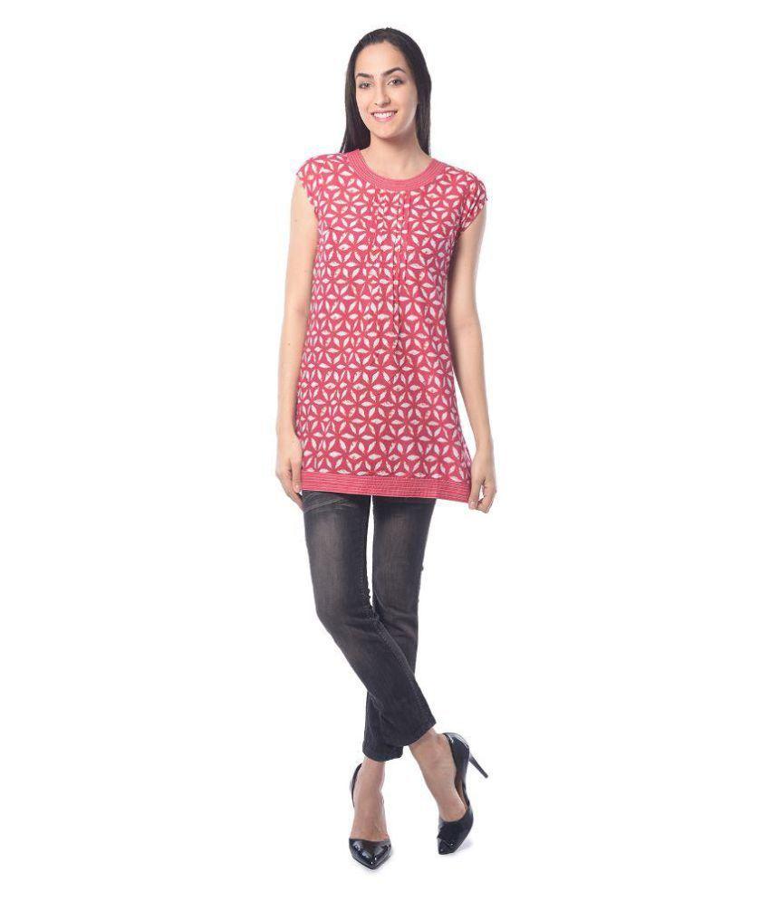 Triyaa Pink Cotton Tunics