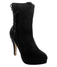 Shuz Touch Black Ankle Length Chelsea Boots