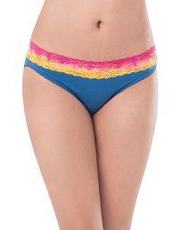 Pretty Secrets Blue Cotton Bikini Panties
