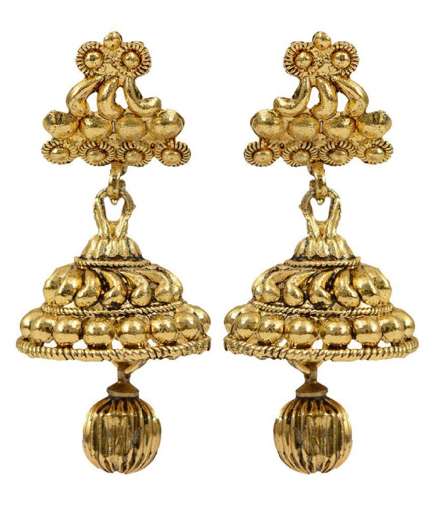 Taj Pearl Golden Jhumkis