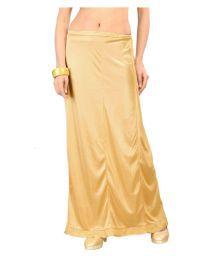Ziya Beige Satin A-Line Skirt