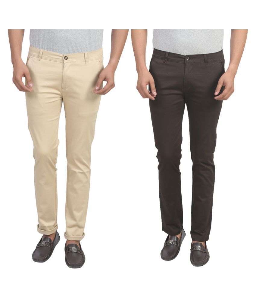 X-Cross Multicolored Slim Flat Trouser