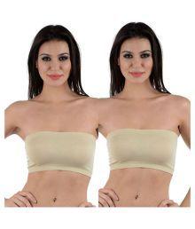 AayanBaby Beige Cotton Lycra T-Shirt/ Seamless Bra