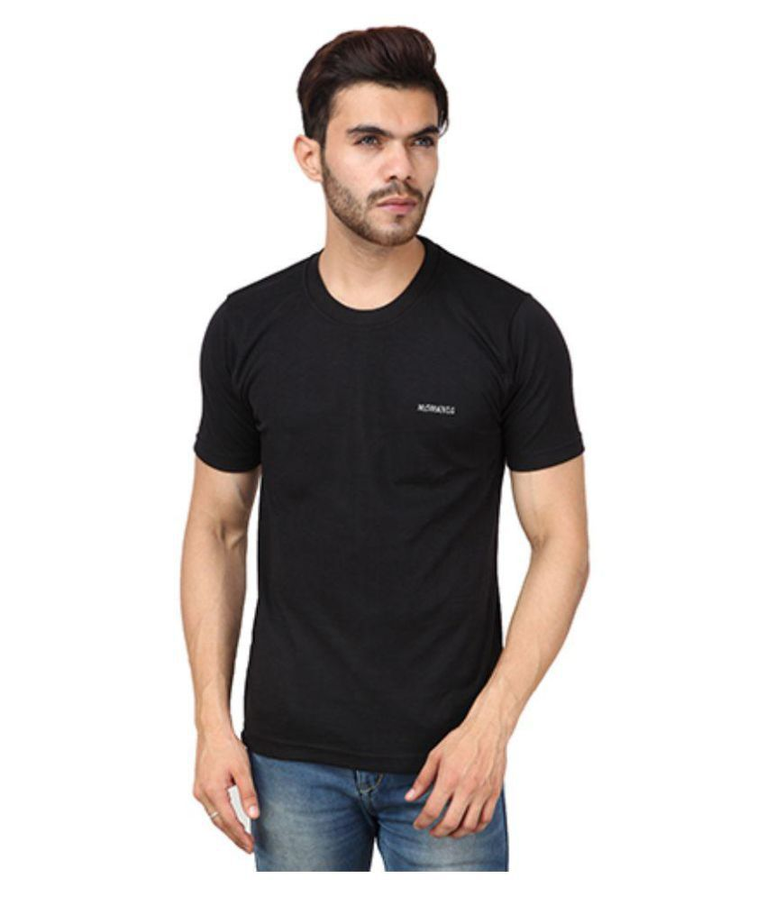 Black t shirt snapdeal - Moments T Fit Black Round T Shirt