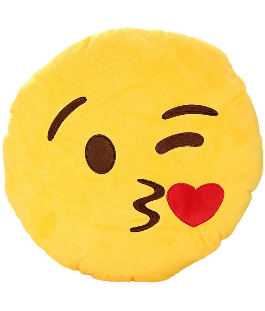 Wishkey Single Yellow Cotton Filled Cushion