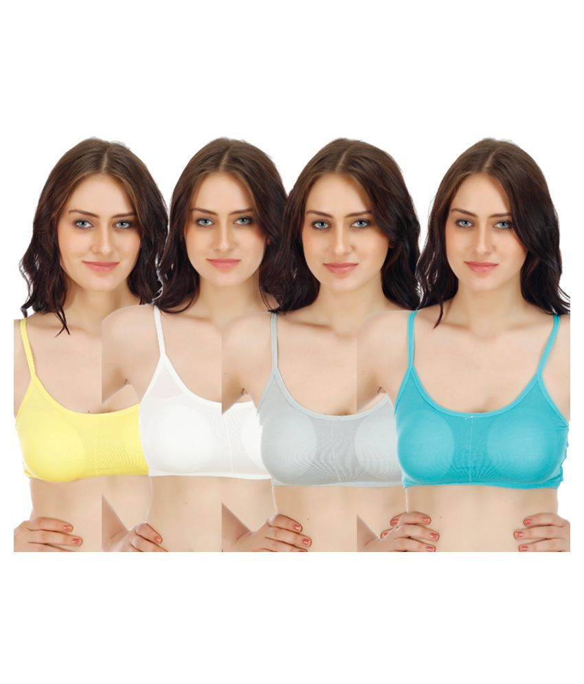 By The Way Multi Color Poly Cotton Bralette