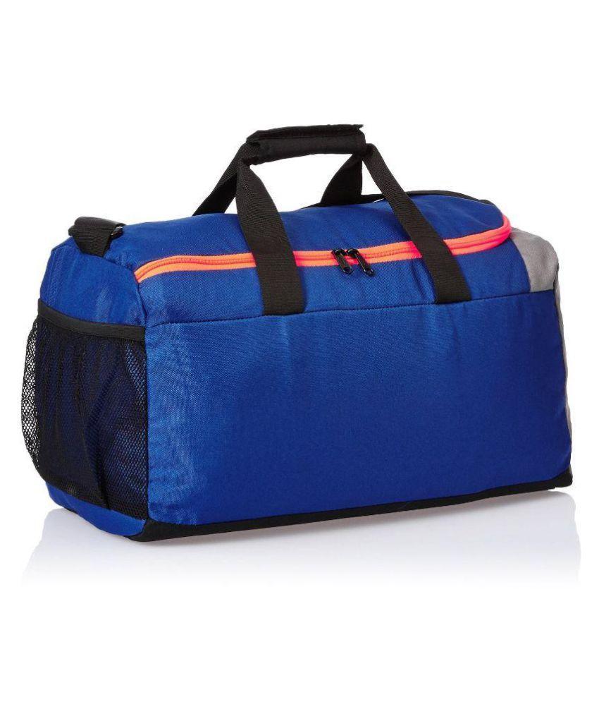 98b7b74239 Puma Blue and Grey Gym duffle bag Travel Bag - Buy Puma Blue and ...