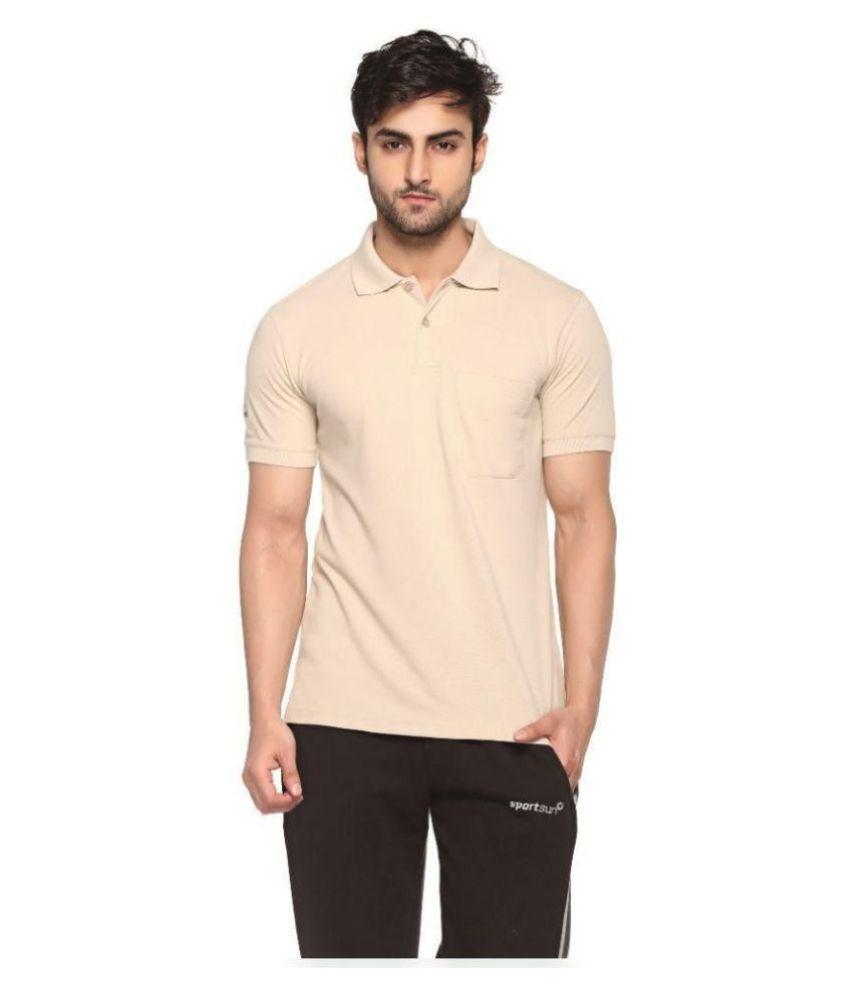Sport Sun Sportswear Mattey Beige Cotton Polo T-shirt