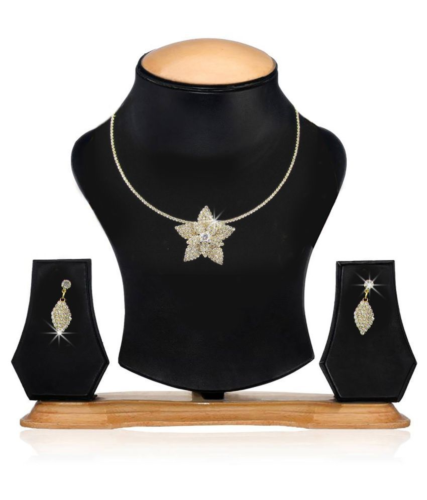 Factorywala Silver Necklace Set